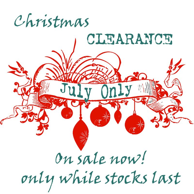 Christmas clearance in July